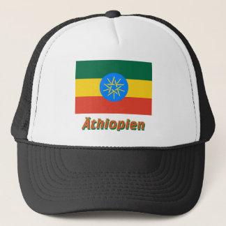 Äthiopien Dienstflagge mit deutschem Namen Trucker Hat