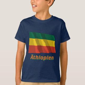 Äthiopien Fliegende bürgerliche Flagge, deutsch T-Shirt