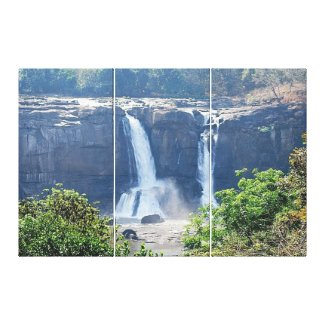 Athirappilly Falls wrappedcanvas
