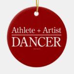 Athlete + Artist = Dancer Ornaments