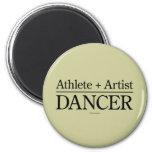 Athlete + Artist = Dancer Refrigerator Magnets