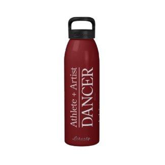 Athlete + Artist = Dancer Reusable Water Bottles