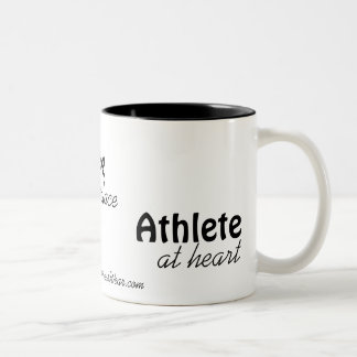 """Athlete at heart"" Customizable mug"
