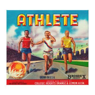 Athlete Brand Citrus Crate Label Canvas Print