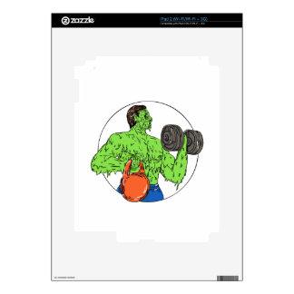 Athlete Fitness Dumbbell Kettlebell Grime Art Decal For The iPad 2