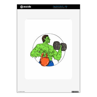 Athlete Fitness Dumbbell Kettlebell Grime Art Decals For iPad