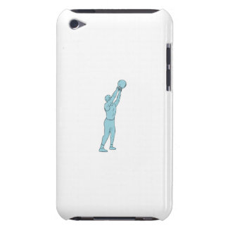 Athlete Fitness Kettlebell Swing Drawing iPod Touch Cover
