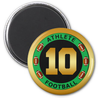 ATHLETE - FOOTBALL NUMBER 10 MAGNET