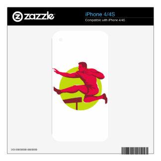 Athlete Jumping Hurdles iPhone 4S Skins