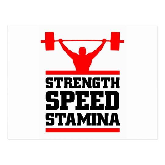 athlete mantra postcard