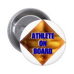 Athlete on Board Pinback Button