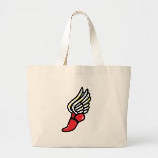 athlete shoe large tote bag