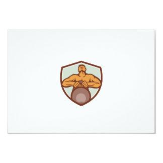 Athlete Weightlifter Lifting Kettlebell Crest Retr Card