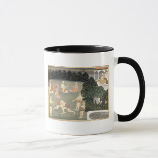 Athletes perform before a seated noble, c.1760 (op mug