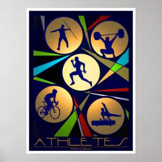 Athletes poster art/print