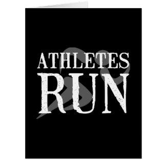 Athletes Run Large Greeting Card