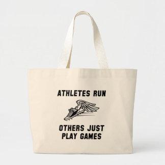 Athletes Run Large Tote Bag