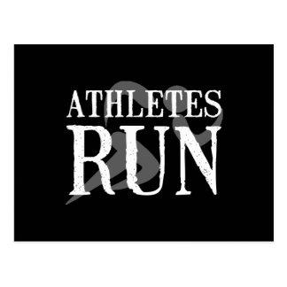Athletes Run Postcard