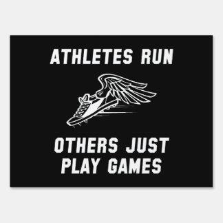 Athletes Run Sign