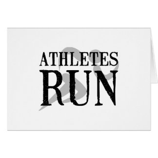 Athletes Run Stationery Note Card
