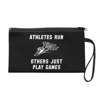 Athletes Run Wristlet Purse