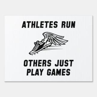 Athletes Run Yard Sign