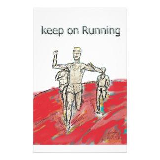 athletes, running , marathon race rdesign stationery