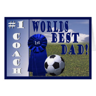 Athletes Worlds Best Dad & #1 Coach Greeting Card
