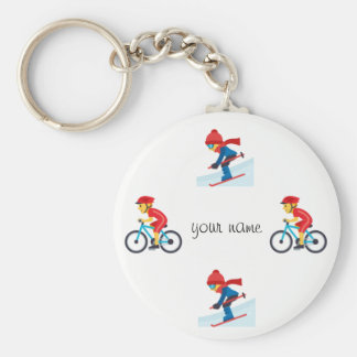"""Athletic Emoji and '' Your Name Here """" Keychain"""