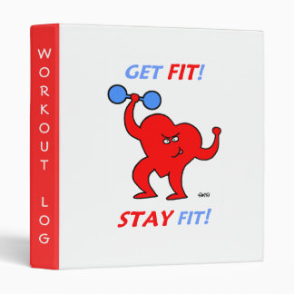 Athletic Fitness Exercise or Workout Log Binder