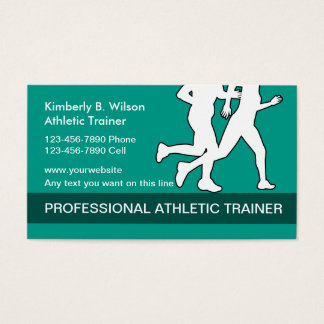 Athletic Fitness Trainer Business Card
