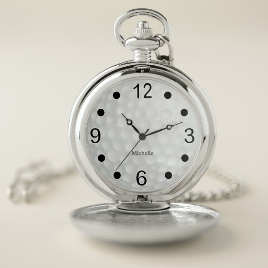 Athletic Golf Design Pocket Watch