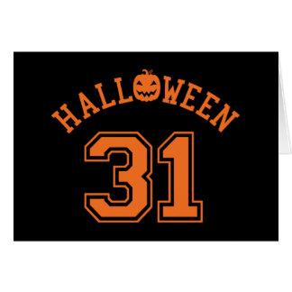 Athletic Halloween 31 Card