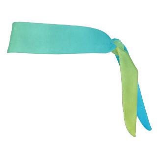 "Athletic Headband: ""BLUE GREEN OMBRE"" Tie Headband"