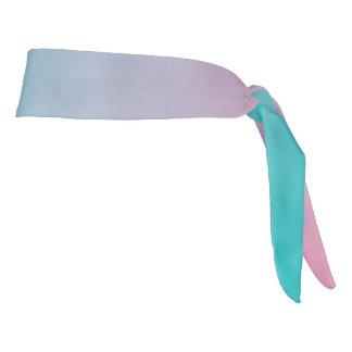 "Athletic Headband: ""PINK TURQUOISE OMBRE"" Tie Headband"