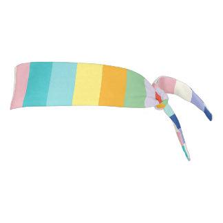 "Athletic Headband: ""SPRING COLORS"" Tie Headband"