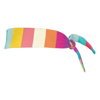 "Athletic Headband: ""SUMMER COLORS"" Tie Headband"