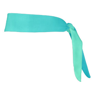 "Athletic Headband: ""TURQUOISE OMBRE"" Tie Headband"