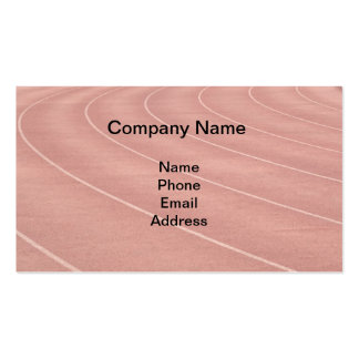Athletic Running Track Markings Double-Sided Standard Business Cards (Pack Of 100)