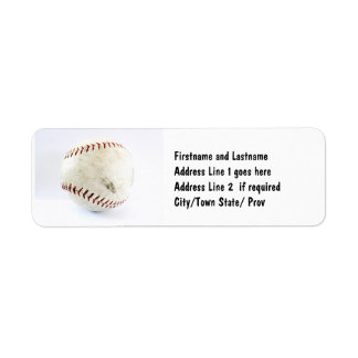 Athletic Softball Team Player Label