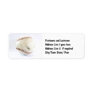 Athletic Softball Team Player Return Address Label