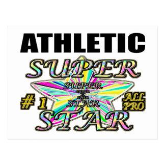 Athletic Superstar Postcard