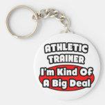 Athletic Trainer ... Big Deal Basic Round Button Keychain