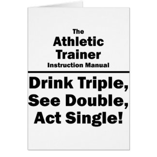 athletic trainer card