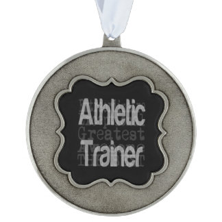 Athletic Trainer Extraordinaire Scalloped Pewter Christmas Ornament