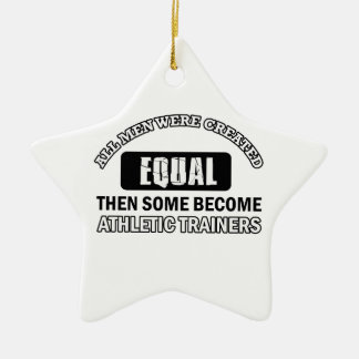Athletic trainers designs Double-Sided star ceramic christmas ornament