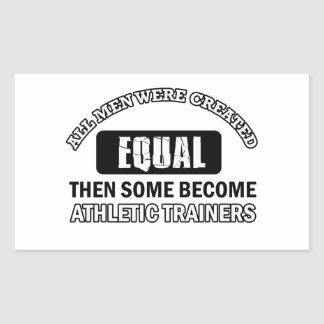 Athletic trainers designs rectangle sticker