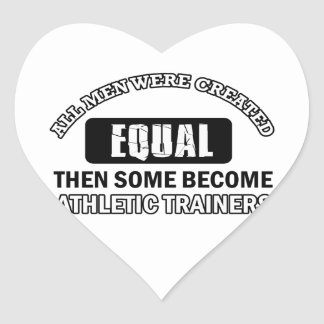Athletic trainers designs heart sticker