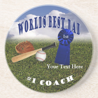 Athletic - Worlds Best Dad & #1 Coach Coaster