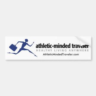 AthleticMindedTraveler.com Bumper Sticker Car Bumper Sticker